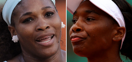 The Williams Sisters Fall In Paris, Serena Williams, Venus Williams, French Open 2012, Roland Garros 2012