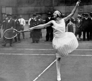 Suzanne Lenglen, Reset The point With The Lob