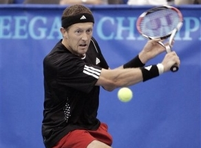 Jonas Bjorkman Attacks Net, Moves Into Memphis Semifinals, Donald Young